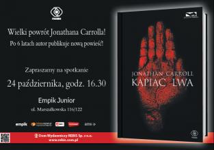 zapraszamy na spotkanie z Jonathanem Carrollem w Warszawie